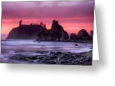 Ruby Beach Last Light Greeting Card