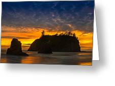 Ruby Beach Olympic National Park Greeting Card