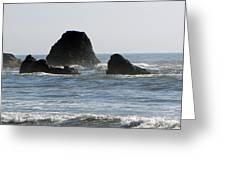 Ruby Beach Sea Stack Greeting Card