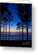 Ruby Beach Sillouette II Greeting Card
