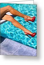 Ruby Heels Not In Kansas Palm Springs Greeting Card