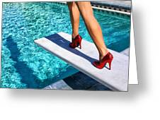 Ruby Heels Ready For Take-off Palm Springs Greeting Card
