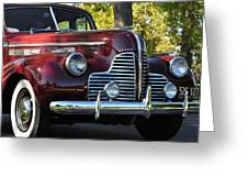 Ruby Red Buick Greeting Card