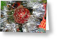 Ruby Red Ornament Greeting Card