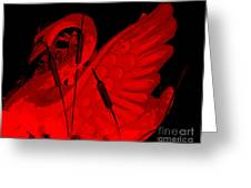 Ruby Red Swan Greeting Card