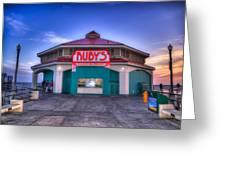 Ruby's Diner On The Pier Greeting Card