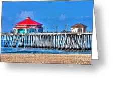 Ruby's Surf City Diner - Huntington Beach Pier Greeting Card