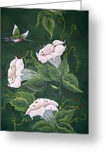 Hummingbird And Lilies Greeting Card