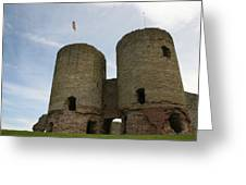 Ruddlan Castle Greeting Card