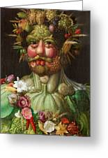 Rudolf II Of Habsburg As Vertumnus Greeting Card