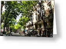 Rue Caulaincourt Montmartre Greeting Card
