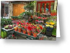 Rue Cler Flower Shop Greeting Card