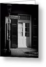 Rue Dauphine French Quarter New Orleans-monochrome Greeting Card