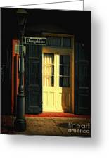 Rue Dauphine New Orleans Greeting Card