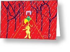 Rue De Pluie Greeting Card