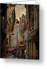 Rue Des Bouchers Greeting Card