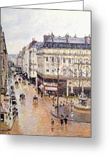 Rue Saint Honore Afternoon Rain Effect Greeting Card