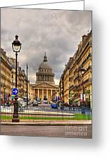 Rue Sufflot In Paris Greeting Card