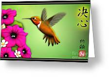 Rufus Hummingbird Greeting Card