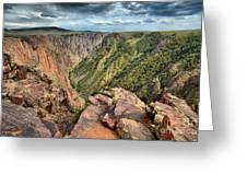 Rugged Edge Of The Canyon Greeting Card