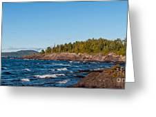 Rugged Lake Superior Coastline Greeting Card