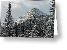 Rugged Mountain Peak With Snow Greeting Card