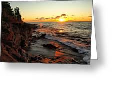 Rugged Shore Fall Greeting Card