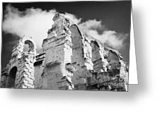 Ruined Area Of The Old Roman Colloseum At El Jem Tunisia Greeting Card