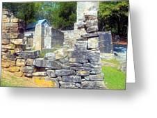 Ruins At Cosley Mill Greeting Card