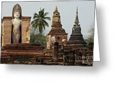 Ruins At Sukhotai Greeting Card