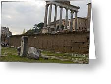 Ruins In The Roman Forum Rome Italy Greeting Card