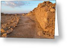 Ruins Of A Fort, Masada, Israel Greeting Card