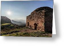 Ruins Of A Stone Building  Corinth Greeting Card
