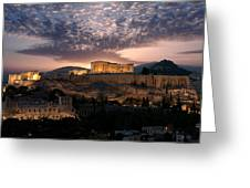 Ruins Of A Temple, Athens, Attica Greeting Card
