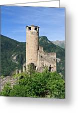 ruins of Chatelard castle Greeting Card