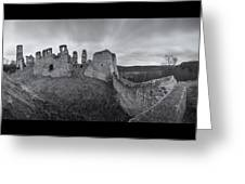 Ruins Of European Medieval Greeting Card
