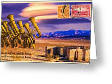 Ruins Of Fort James B. Polka And Prototype Gatling Tubas Greeting Card