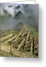 Ruins Of Machu Picchu Peru Greeting Card