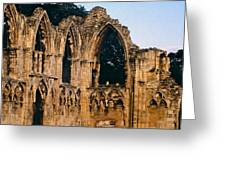 Ruins Of St. Mary's Abbey Greeting Card