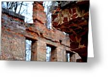 Ruins Of Sweetwater Manufacturing Company Greeting Card