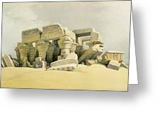 Ruins Of The Temple Of Kom Ombo Greeting Card by David Roberts