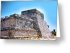 Ruins Of Tulum Mexico Greeting Card
