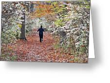 Run Through The Woods Greeting Card