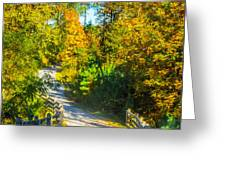Runner's Path In Autumn Greeting Card by Parker Cunningham