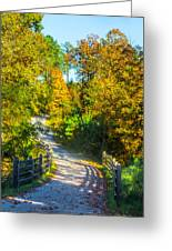 Runner's Path In Autumn Greeting Card