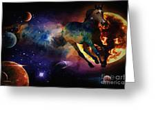 Running Horse Creation Greeting Card