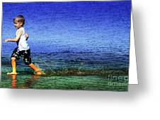 Running On Water Greeting Card