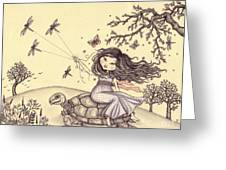Running To The Spring Greeting Card