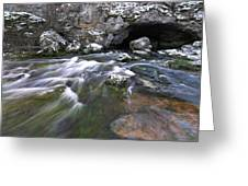 Running Water Cave Greeting Card