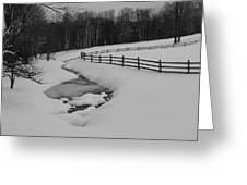 Running Water Running Fence Greeting Card